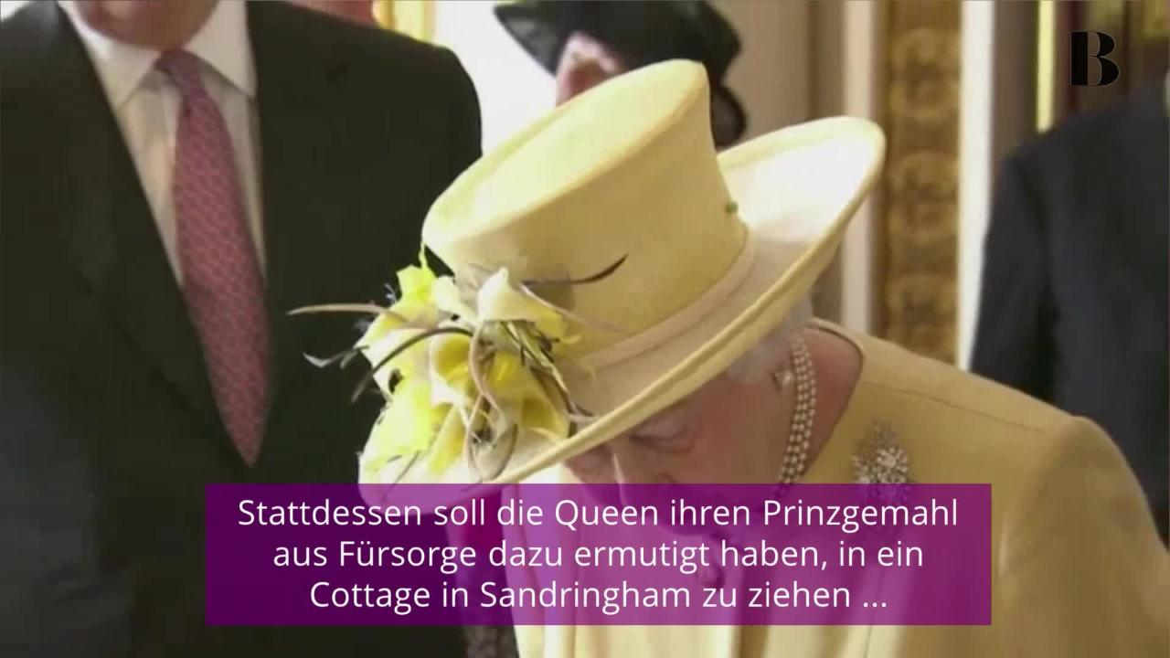 Krise bei Queen Elizabeth II. & Prinz Philip? Er soll ausgezogen sein