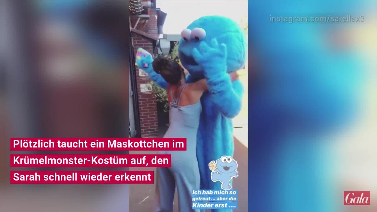 Sarah Lombardi: Niedliche Krümelmonster-Überraschung für Alessio ❤️