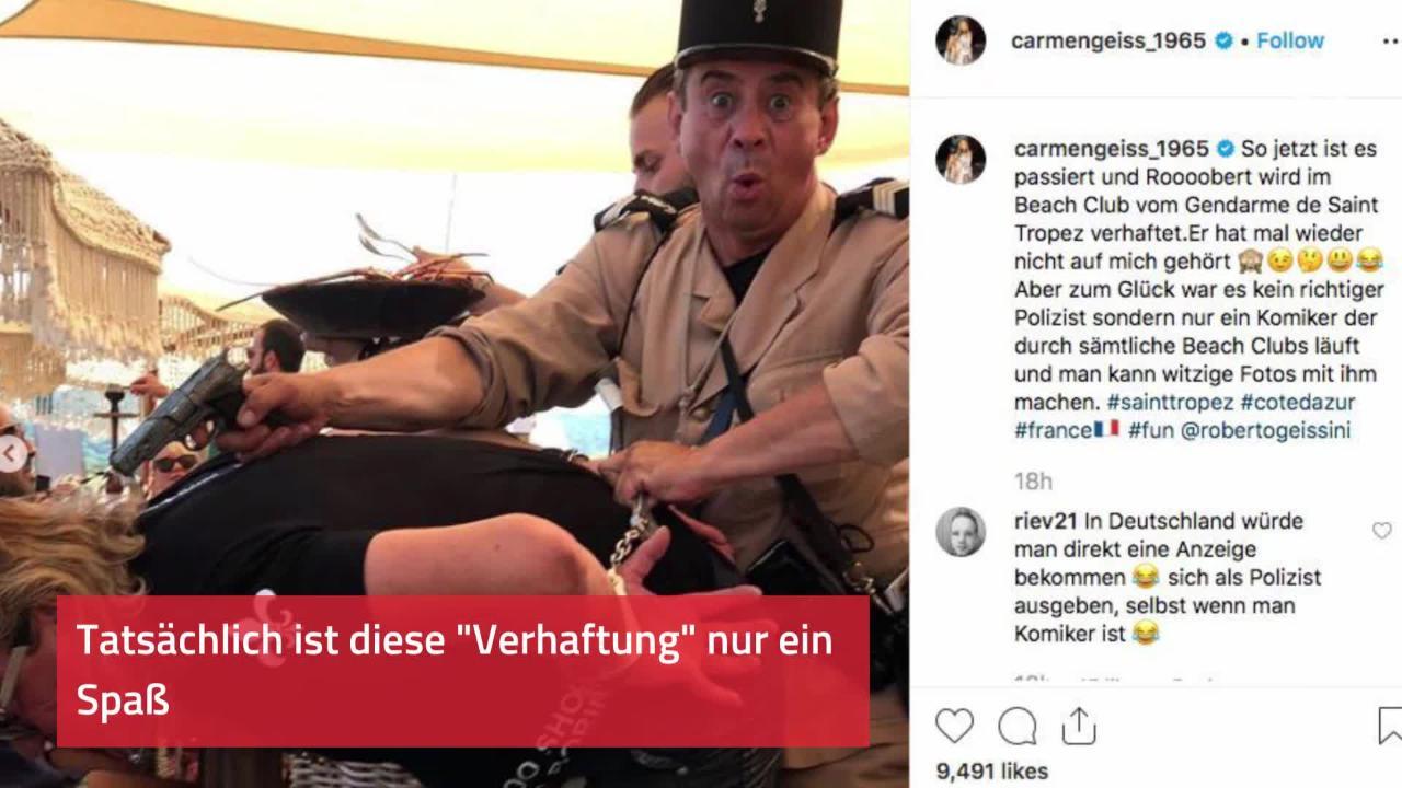 Robert Geiss in Handschellen: Carmen zeigt Fotos von Verhaftung in St. Tropez!