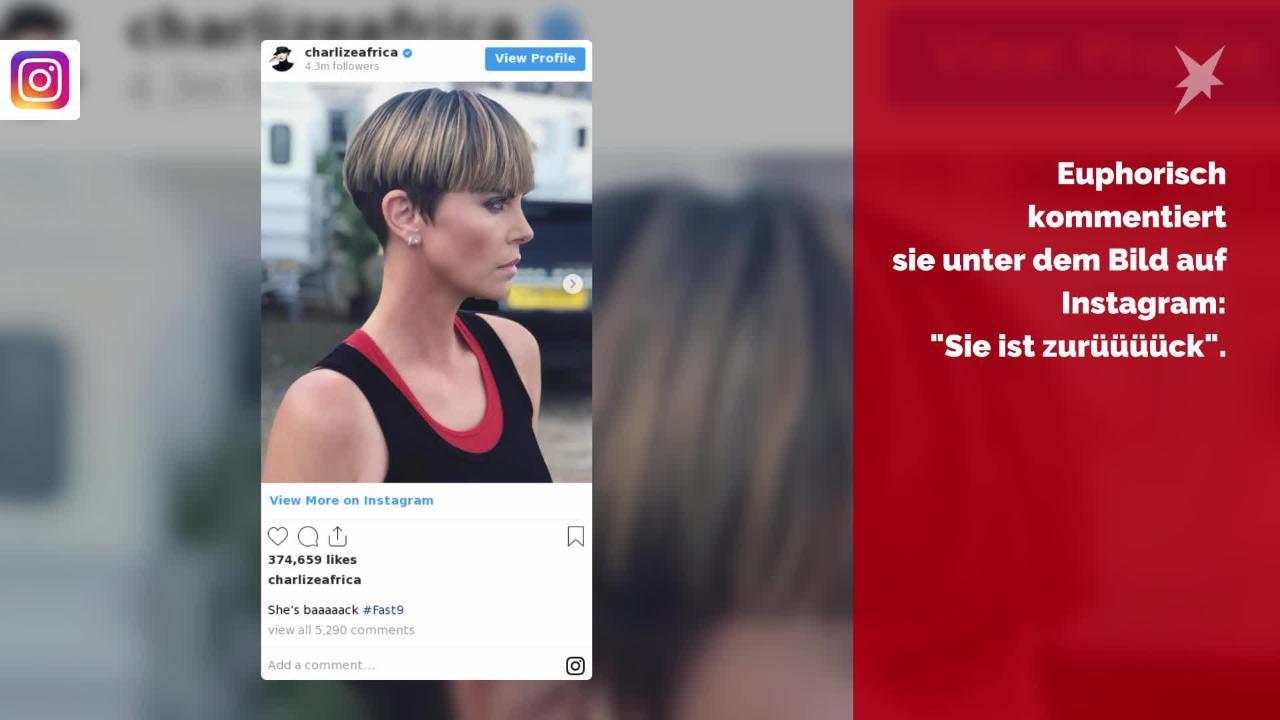 Schnipp-Schnapp, alles ab: Charlize Theron zeigt Kurzhaarfrisur 😳