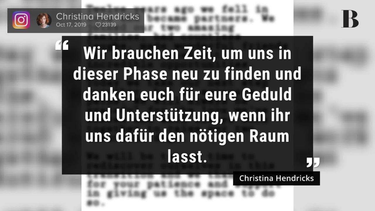 Christina Hendricks: Trennung nach 12 Jahren!