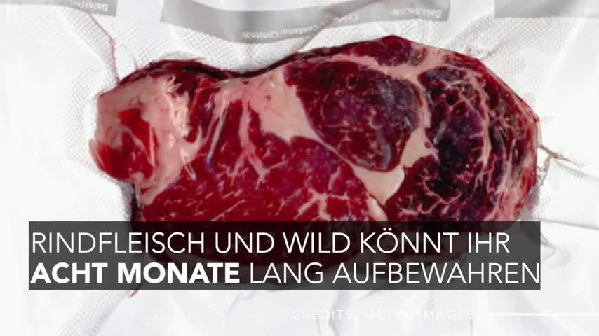 Fleisch einfrieren: So lange hält es wirklich in der Tiefkühltruhe